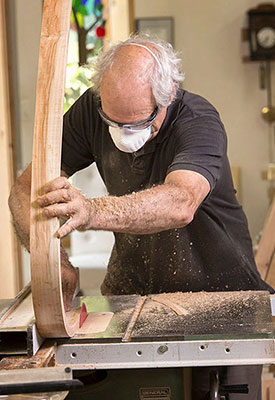 Turning raw lumber into beautiful furniture